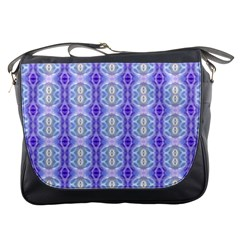 Light Blue Purple White Girly Pattern Messenger Bags