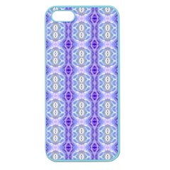 Light Blue Purple White Girly Pattern Apple Seamless Iphone 5 Case (color)