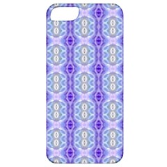 Light Blue Purple White Girly Pattern Apple Iphone 5 Classic Hardshell Case