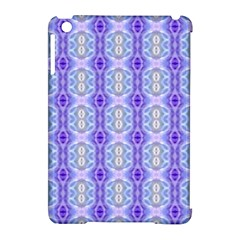 Light Blue Purple White Girly Pattern Apple Ipad Mini Hardshell Case (compatible With Smart Cover) by Costasonlineshop