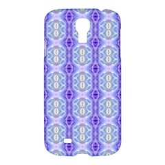 Light Blue Purple White Girly Pattern Samsung Galaxy S4 I9500/i9505 Hardshell Case by Costasonlineshop