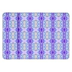 Light Blue Purple White Girly Pattern Samsung Galaxy Tab 8 9  P7300 Flip Case