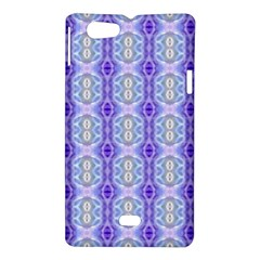 Light Blue Purple White Girly Pattern Sony Xperia Miro by Costasonlineshop