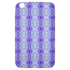 Light Blue Purple White Girly Pattern Samsung Galaxy Tab 3 (8 ) T3100 Hardshell Case  by Costasonlineshop
