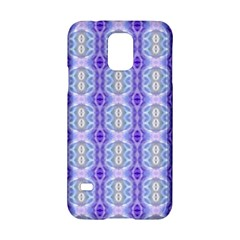 Light Blue Purple White Girly Pattern Samsung Galaxy S5 Hardshell Case