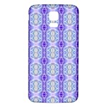 Light Blue Purple White Girly Pattern Samsung Galaxy S5 Back Case (White) Front