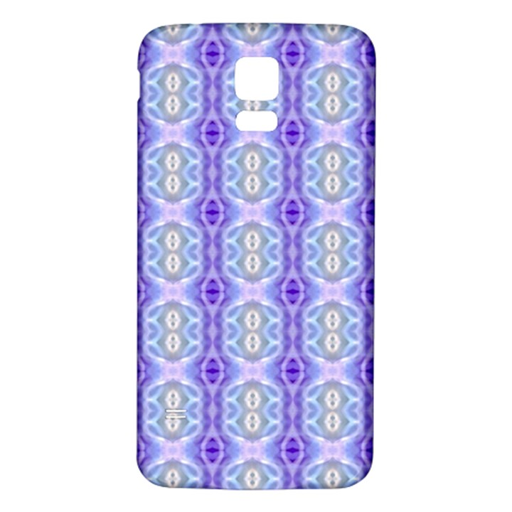 Light Blue Purple White Girly Pattern Samsung Galaxy S5 Back Case (White)