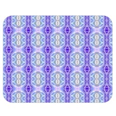 Light Blue Purple White Girly Pattern Double Sided Flano Blanket (medium)