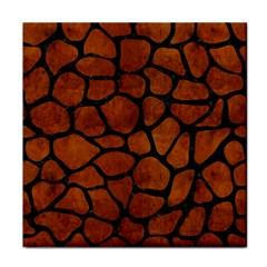 Skin1 Black Marble & Brown Burl Wood Tile Coaster by trendistuff