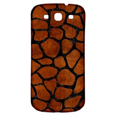 Skin1 Black Marble & Brown Burl Wood Samsung Galaxy S3 S Iii Classic Hardshell Back Case by trendistuff