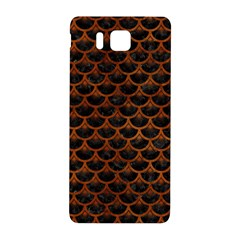 Scales3 Black Marble & Brown Burl Wood Samsung Galaxy Alpha Hardshell Back Case by trendistuff