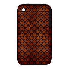 Scales2 Black Marble & Brown Burl Wood (r) Apple Iphone 3g/3gs Hardshell Case (pc+silicone) by trendistuff