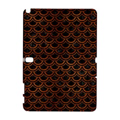 Scales2 Black Marble & Brown Burl Wood Samsung Galaxy Note 10 1 (p600) Hardshell Case