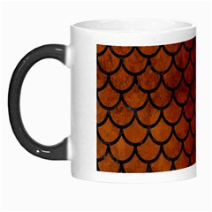 Scales1 Black Marble & Brown Burl Wood (r) Morph Mug by trendistuff