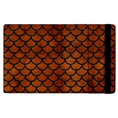 Scales1 Black Marble & Brown Burl Wood (r) Apple Ipad 2 Flip Case by trendistuff