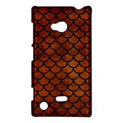 Scales1 Black Marble & Brown Burl Wood (r) Nokia Lumia 720 Hardshell Case by trendistuff