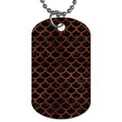 Scales1 Black Marble & Brown Burl Wood Dog Tag (two Sides) by trendistuff