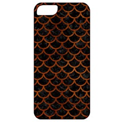 Scales1 Black Marble & Brown Burl Wood Apple Iphone 5 Classic Hardshell Case by trendistuff