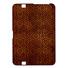 Hexagon1 Black Marble & Brown Burl Wood (r) Kindle Fire Hd 8 9  Hardshell Case by trendistuff