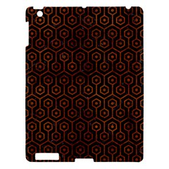 Hexagon1 Black Marble & Brown Burl Wood Apple Ipad 3/4 Hardshell Case by trendistuff