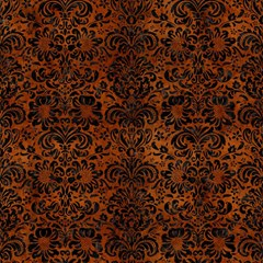 Damask2 Black Marble & Brown Burl Wood (r) Magic Photo Cube by trendistuff