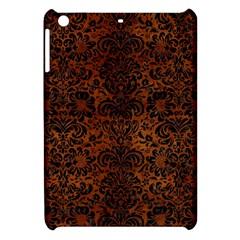 Damask2 Black Marble & Brown Burl Wood (r) Apple Ipad Mini Hardshell Case by trendistuff