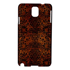 Damask2 Black Marble & Brown Burl Wood (r) Samsung Galaxy Note 3 N9005 Hardshell Case by trendistuff