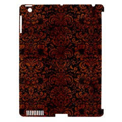 Damask2 Black Marble & Brown Burl Wood Apple Ipad 3/4 Hardshell Case (compatible With Smart Cover) by trendistuff