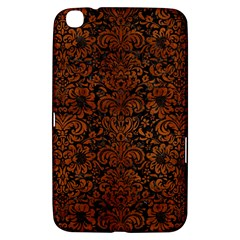 Damask2 Black Marble & Brown Burl Wood Samsung Galaxy Tab 3 (8 ) T3100 Hardshell Case  by trendistuff