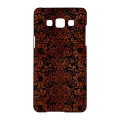 Damask2 Black Marble & Brown Burl Wood Samsung Galaxy A5 Hardshell Case  by trendistuff