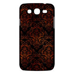 Damask1 Black Marble & Brown Burl Wood Samsung Galaxy Mega 5 8 I9152 Hardshell Case  by trendistuff