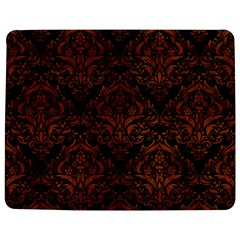 Damask1 Black Marble & Brown Burl Wood Jigsaw Puzzle Photo Stand (rectangular) by trendistuff