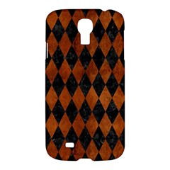 Diamond1 Black Marble & Brown Burl Wood Samsung Galaxy S4 I9500/i9505 Hardshell Case by trendistuff
