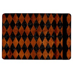 Diamond1 Black Marble & Brown Burl Wood Apple Ipad Air Flip Case by trendistuff