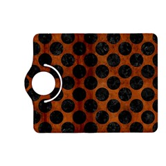 Circles2 Black Marble & Brown Burl Wood (r) Kindle Fire Hd (2013) Flip 360 Case by trendistuff