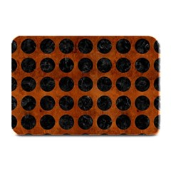 Circles1 Black Marble & Brown Burl Wood (r) Plate Mat by trendistuff