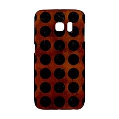 Circles1 Black Marble & Brown Burl Wood (r) Samsung Galaxy S6 Edge Hardshell Case by trendistuff