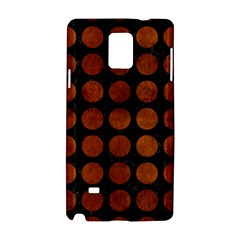 Circles1 Black Marble & Brown Burl Wood Samsung Galaxy Note 4 Hardshell Case by trendistuff