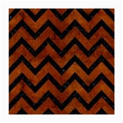 Chevron9 Black Marble & Brown Burl Wood (r) Medium Glasses Cloth (2 Sides) by trendistuff