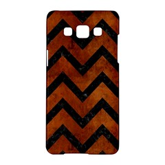 Chevron9 Black Marble & Brown Burl Wood (r) Samsung Galaxy A5 Hardshell Case  by trendistuff