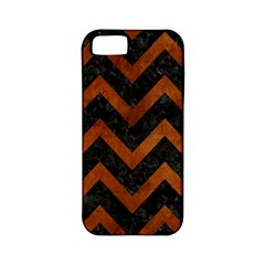 Chevron9 Black Marble & Brown Burl Wood Apple Iphone 5 Classic Hardshell Case (pc+silicone) by trendistuff