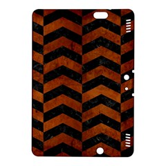 Chevron2 Black Marble & Brown Burl Wood Kindle Fire Hdx 8 9  Hardshell Case by trendistuff
