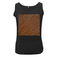 Orange Fur Women s Black Tank Tops by timelessartoncanvas