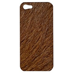 Orange Fur Apple Iphone 5 Hardshell Case by timelessartoncanvas