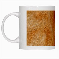 Orange Fur 2 White Mugs by timelessartoncanvas