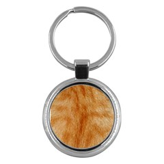 Orange Fur 2 Key Chains (round)  by timelessartoncanvas