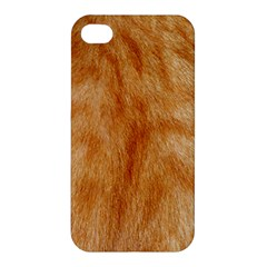 Orange Fur 2 Apple Iphone 4/4s Hardshell Case by timelessartoncanvas