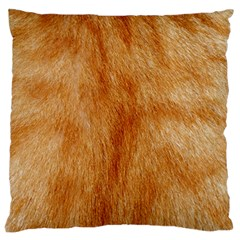 Orange Fur 2 Large Cushion Cases (two Sides)  by timelessartoncanvas