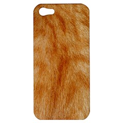 Orange Fur 2 Apple Iphone 5 Hardshell Case by timelessartoncanvas