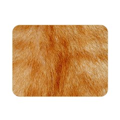 Orange Fur 2 Double Sided Flano Blanket (mini)  by timelessartoncanvas